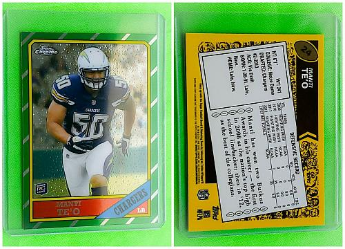 NFL MANTI TE'O SAN DIEGO CHARGERS 2013 TOPPS CHROME ROOKIE INSERT #24 MNT