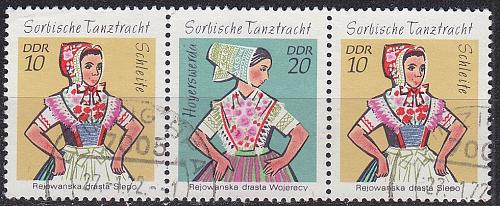 GERMANY DDR [1971] MiNr 1723+24 W 9 ( OO/used ) Trachten