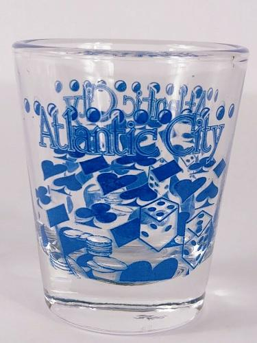 """Atlantic City Chips And Dice 2.25"""" Collectible Shot Glass"""