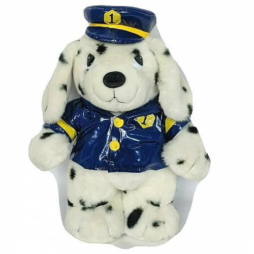 "MTY International Crossing Guard Security Dalmation Dog Plush Stuffed Animal 15"""