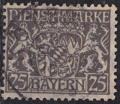 GERMANY Bayern Bavaria [Dienst] MiNr 0021 x ( O/used )