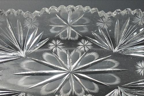 American Brilliant Period hand Cut Glass celery