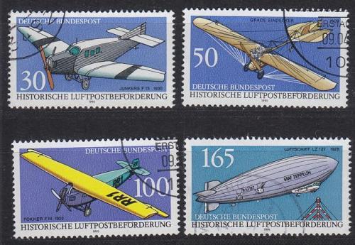 GERMANY BUND [1991] MiNr 1522-25 ( O/used ) Flugzeug