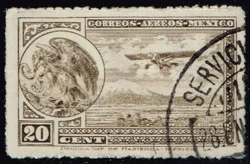Mexico #C23 Coat of Arms and Airplane; Used (4Stars)  MEXC023-03XRS
