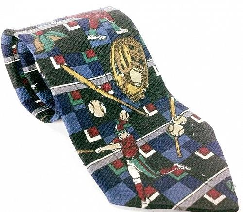 American Sports Men's Dress Necktie Baseball Novelty Polyester