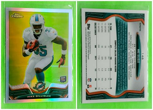 NFL MIKE GILLISEE MIAMI DOLPHINS MM 13 TOPPS CHROME ROOKIE REFRACTOR #146 MINT