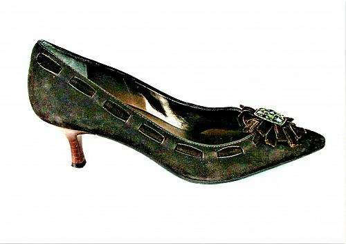 Talbots Brown Seude Pointed Toe Pumps Heels Shoes Women's 6 1/2 B (SW5)