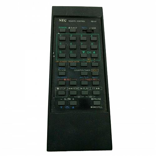 Genuine NEC TV VCR Remote Control RB-97 Tested Works