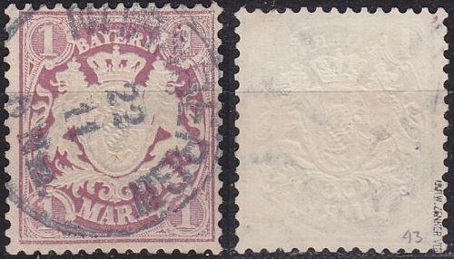 GERMANY Bayern Bavaria [1876] MiNr 0043 ( O/used ) [01]