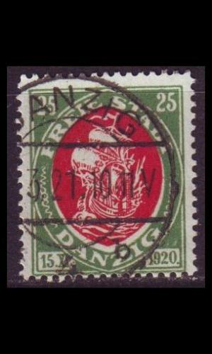 GERMANY REICH Danzig [1921] MiNr 0063 ( OO/used )