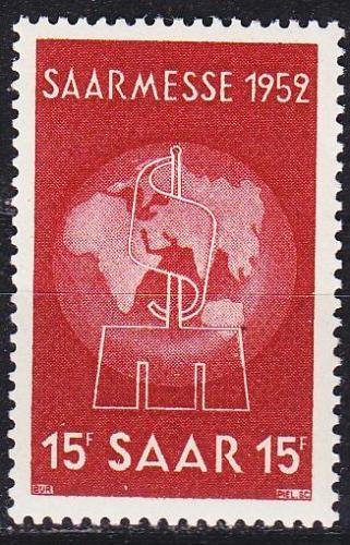 GERMANY Saar [1952] MiNr 0317 ( **/mnh )
