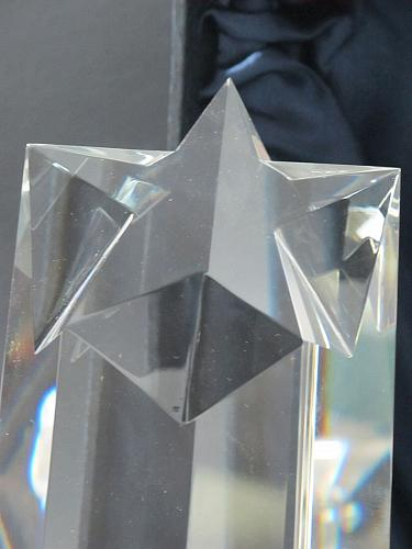 Optical GLASS , Gift crystal / Star award for etching