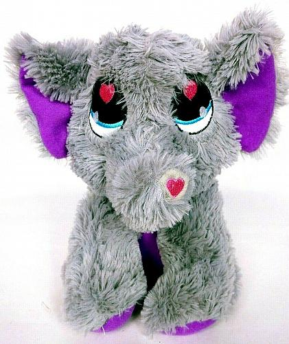 "Peek A Boo Elephant Plush Gray Stuffed Animal Toy 10"""