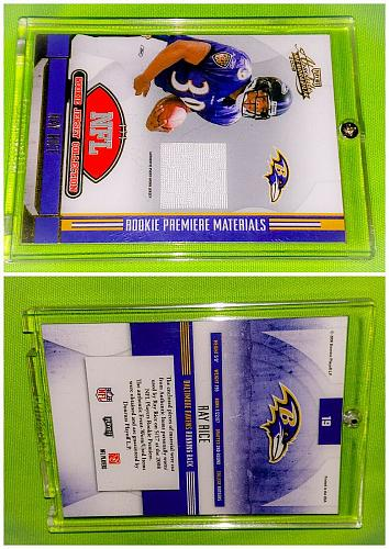 Nfl Ray Rice Baltimore Ravens 2008 Playoff Absolute Game-worn Jersey RC Mnt