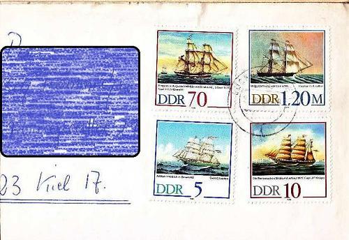 GERMANY DDR [1988] MiNr 3198-01 ( Brief ) Schiffe