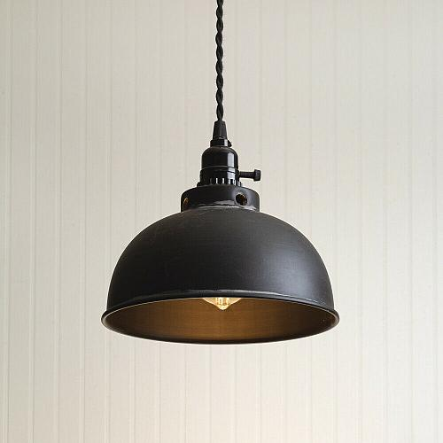 Black Dome Pendant Light Hanging Ceiling Lamp Fixture Country Farmhouse Style