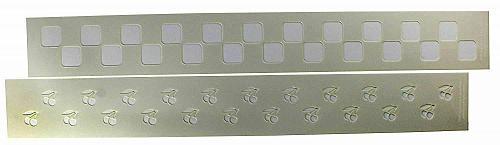 "Checkerboard/Cherry Border Stencil Set-14 Mil Mylar-3"" x 23.5 Painting/Crafts"