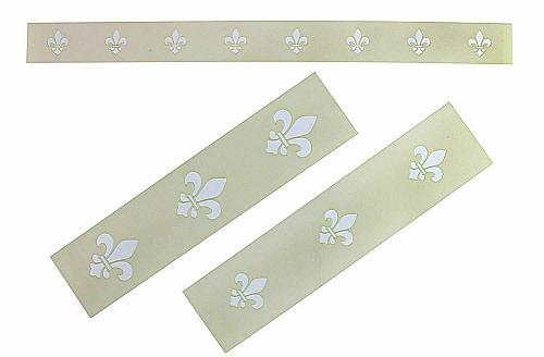 Fleur-De-Lis 3 Piece Stencil Set-Border-14 Mil -Painting /Crafts/ Templates