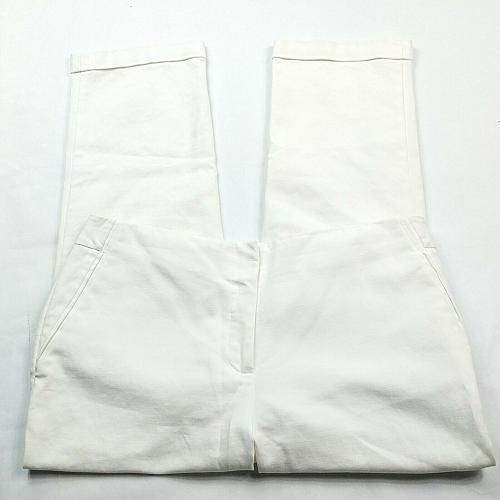 Chicos So Slimming Womens Dress Pants 0.5 - 6 Solid White Cuffed Stretch