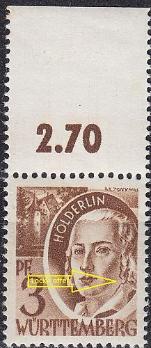 GERMANY Alliiert Franz. Zone [Württemberg] MiNr 0002 yv II ( **/mnh )