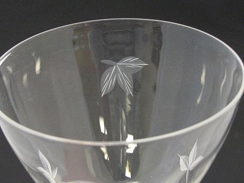 bryce Goblet glass Autumn pattern Hand cut Crystal Made in USA Mt Pleasant PA
