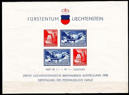 LIECHTENSTEIN [1936] MiNr 0151 Block 2 ( **/mnh ) [01]