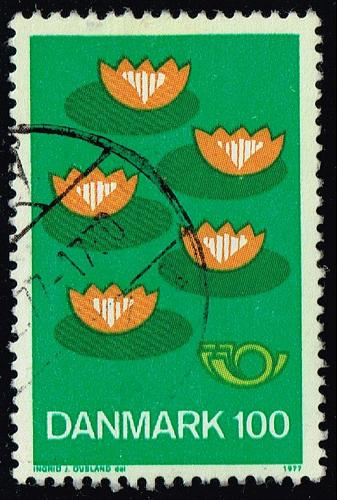 Denmark #597 Five Water Lillies; Used (3Stars) |DEN0597-01XBC