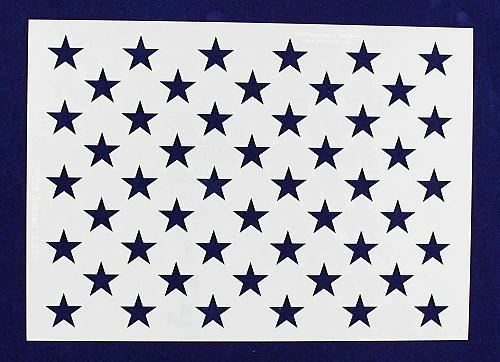 """50 Star Field Stencil 14 Mil-G-Spec -12.85""""L - Painting /Crafts/ Templates"""