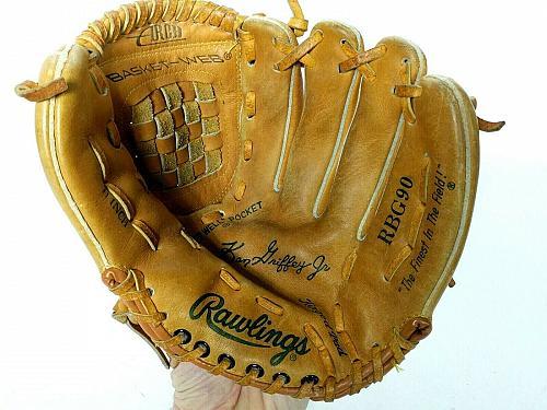 "Rawlings RBG90 Ken Griffey Jr Leather Baseball Softball Glove RH Throw 11"""