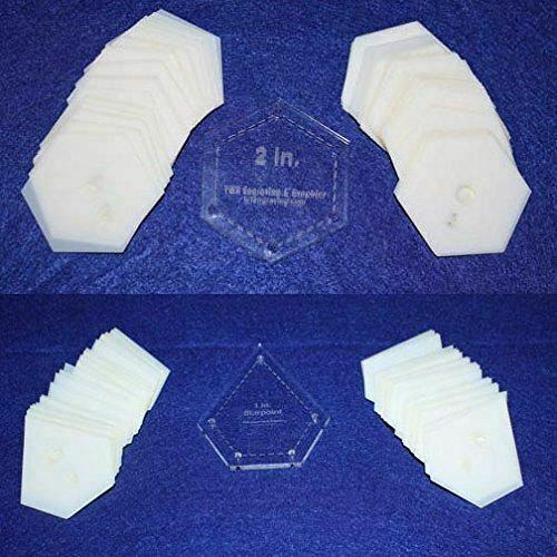 "Mylar 1"" Starpoint & 2"" Hexagon -102 Piece Set - Quilting / Sewing Templates"