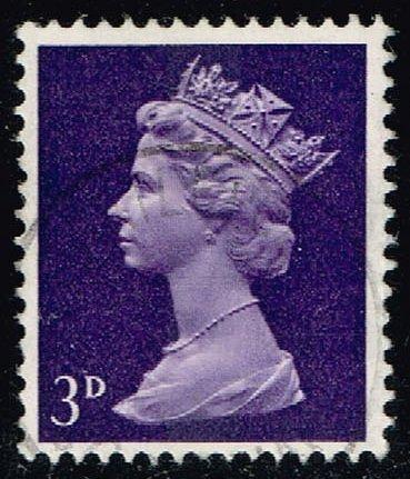Great Britain #MH5 Machin Head; Used (0.25) (3Stars) |GBRMH005-04XBC