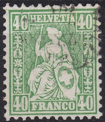 SCHWEIZ SWITZERLAND [1862] MiNr 0026 ( O/used ) [01]