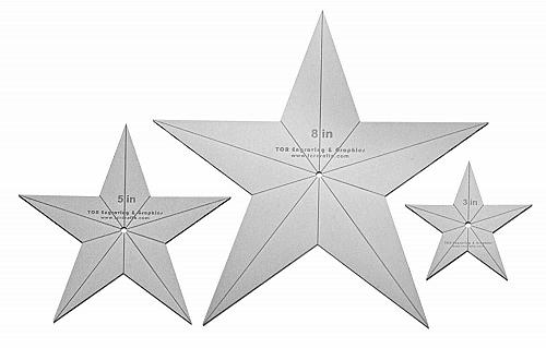 """Star Quilt Templates. 3"""",5"""",8"""" - Clear 1/8"""" Thick Acrylic"""