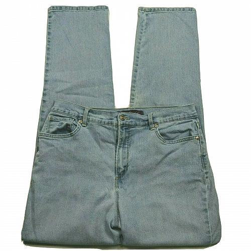 Gloria Vanderbilt Amanda Tapered Leg Jeans Size 12 High Waist Light Blue Wash