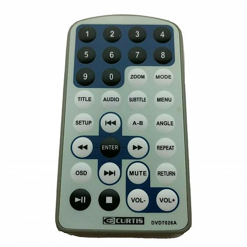 Genuine Curtis DVD Player Remote Control DVD7026A Tested Works