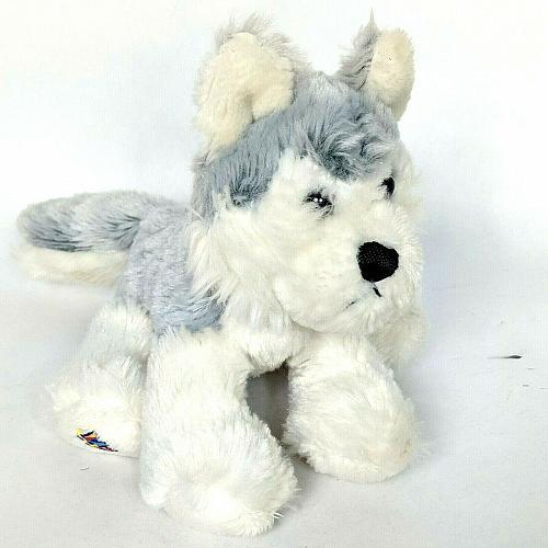 "Ganz Webkinz Lil Kinz Husky Dog Plush Stuffed Animal HS120 No Code 8.75"""