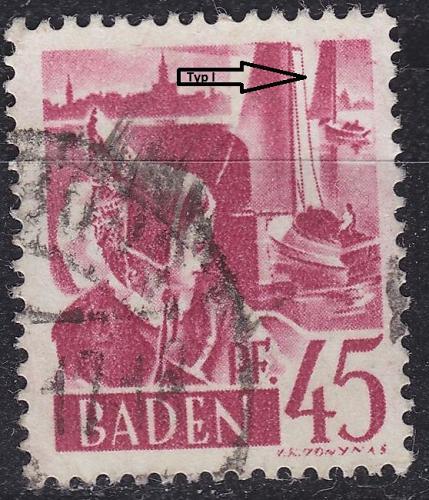 GERMANY Alliiert Franz. Zone [Baden] MiNr 0009 yv I ( O/used ) [02]