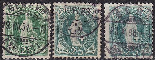 SCHWEIZ SWITZERLAND [1882] MiNr 0059 X A ( O/used ) [03] 3 Farben