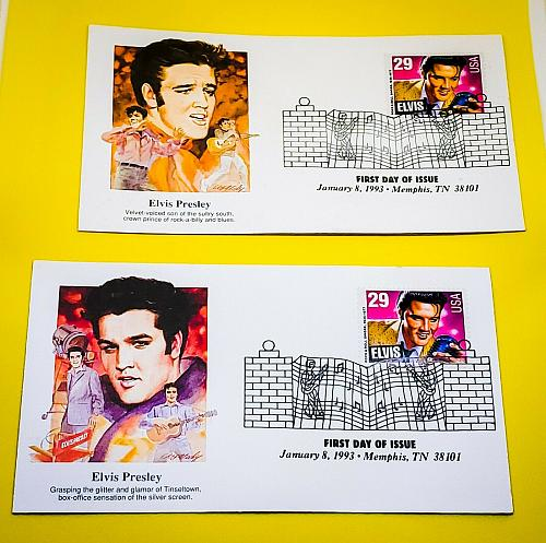 POSTAL HISTORY 1993 FIRST DAY EVENT COVER HONORING ELVIS PRESLEY HFB CACHET LOT