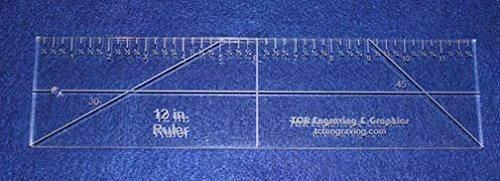 """12"""" Ruler --Template -3/8""""- Clear Acrylic - Quilting/sewing"""