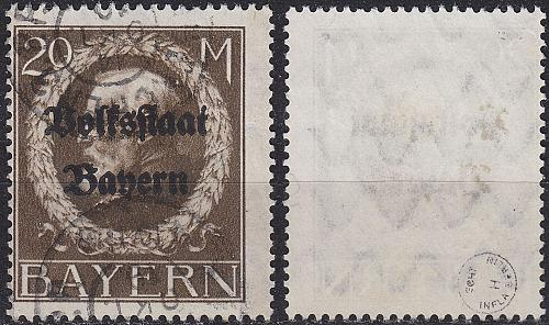GERMANY Bayern Bavaria [1919] MiNr 0133 II A ( O/used )