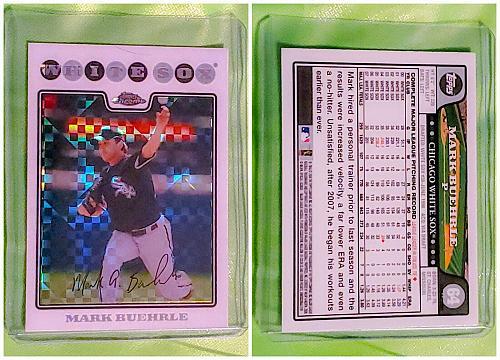 MLB MARK BUEHRLE CHICAGO WHITE SOX 2009 TOPPS CHROME X FACTOR #64 MNT