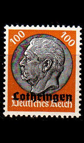 GERMANY REICH Besetzung [Lothringen] MiNr 0016 ( */mh )