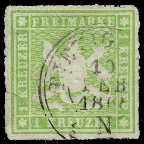 Germany-Wurttemberg #41 Coat of Arms; Used (1Stars) |WUR41-01XRP