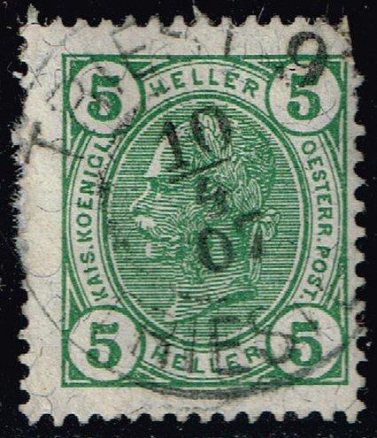 Austria #90 Emperor Franz Josef; Used (1Stars) |AUT0090-02
