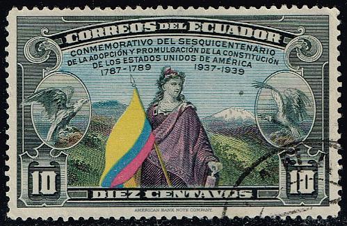 Ecuador #368 US Constitution 150th Anniversary; Used (4Stars)  ECU0368-01XRS