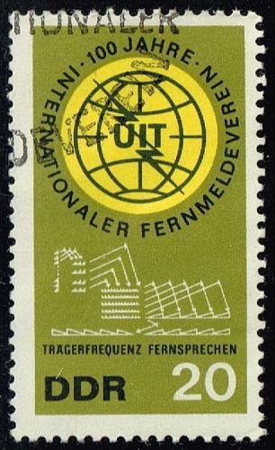 Germany DDR #771 ITU Centenary; CTO (0.25) (1Stars) |DDR0771-02