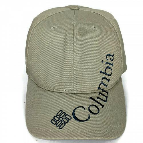 Columbia Mens Beige Spellout Snapback Baseball Cap Hat Adjustable One Size
