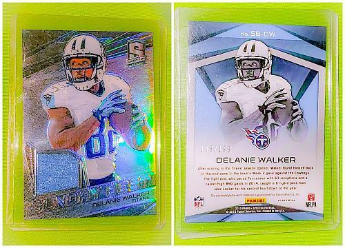 NFL Delanie Walker Tennessee Titans 2015 Panini Spectra Game-worn Jersey /199