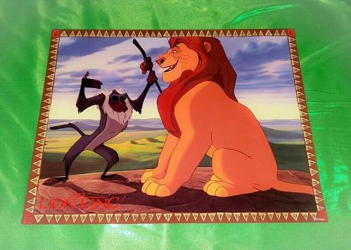 Vintage Walt Disney's THE LION KING 11x14 Glossy Lobby Card 1 Rare